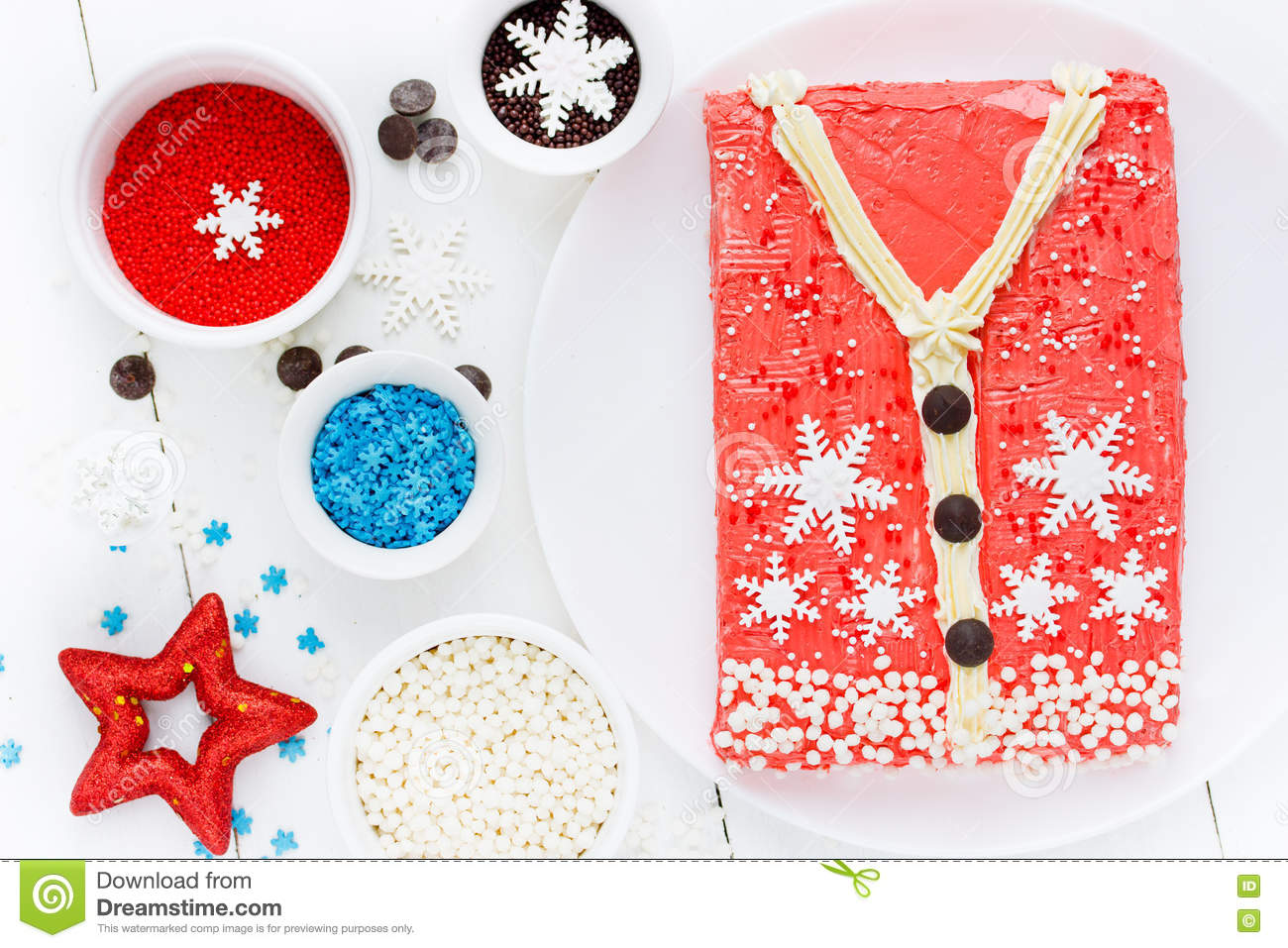 Ugly Christmas Sweater Cake , Recipe For Winter Holiday Party ...