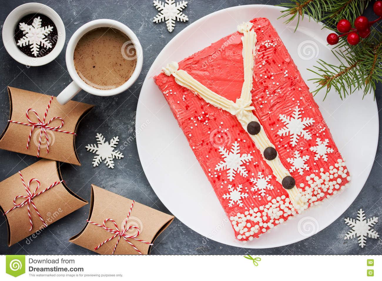 ugly christmas sweater cake recipe for winter holiday party creative idea for christmas new year xmas dessert food