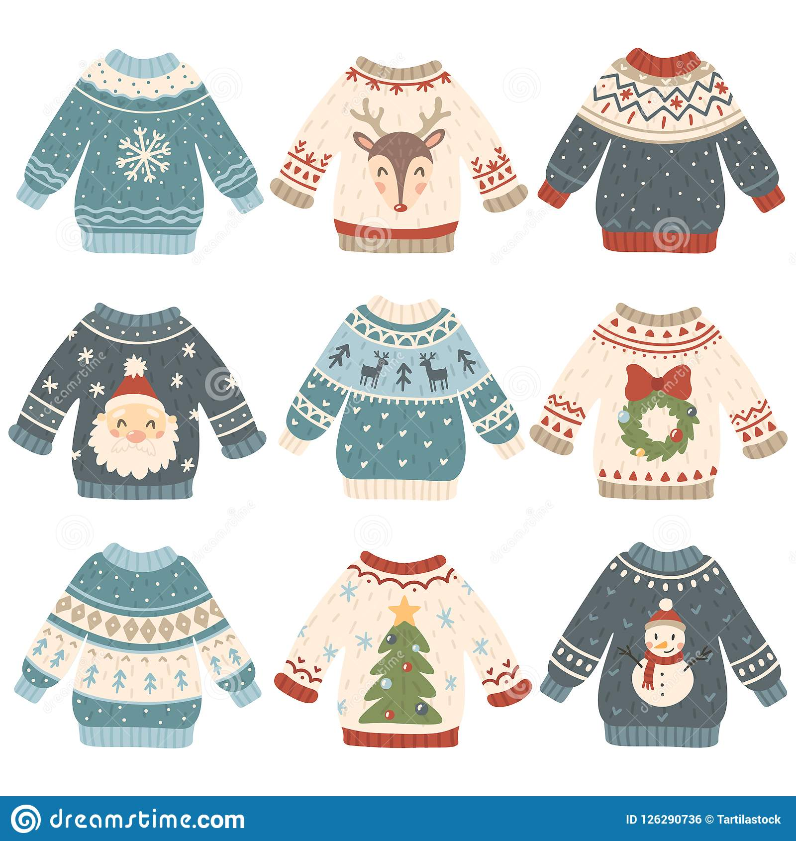 8efa7697d Ugly christmas sweaters. Cartoon cute wool jumper. Knitted tacky winter  holidays sweater pullover with funny snowman