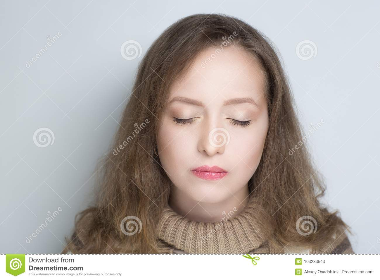 Ugly face woman stock image. Image of lonely, eyes, isolated