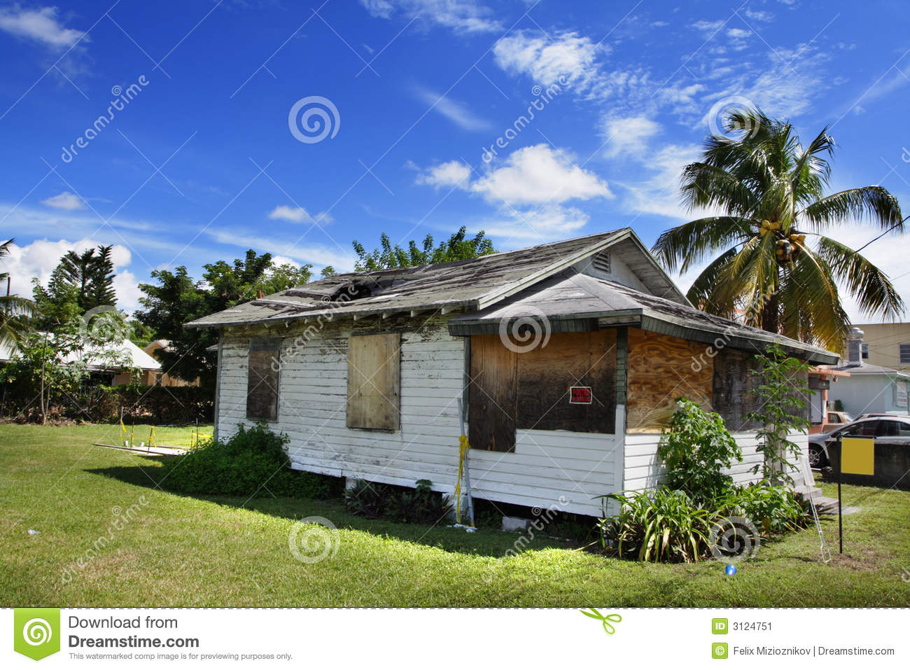 Download Ugly Home stock image. Image of broken, palm, dynamic - 3124751