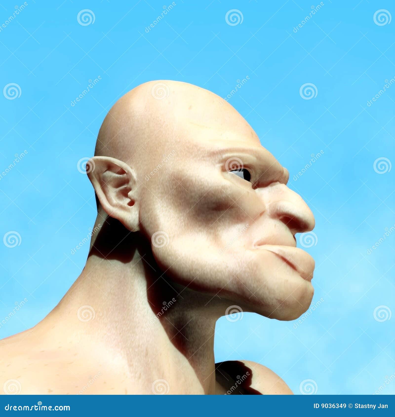ugly man stock illustration  image of torso  profile