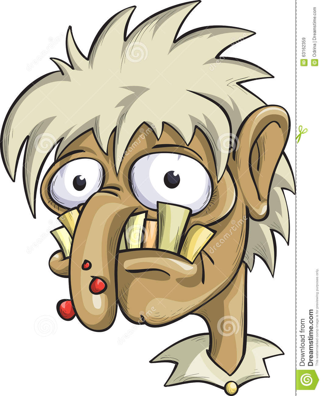 Cartoon Characters Ugly : Ugly man alcoholic a drug addict stock vector image
