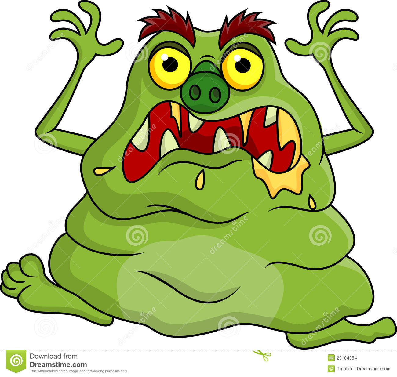 Cartoon Characters Ugly : Ugly monster cartoon stock images image