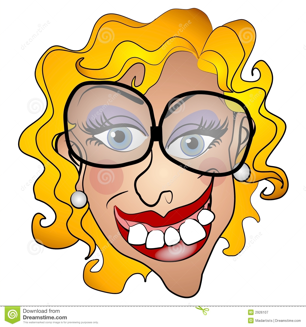 Ugly Netty Young Woman Smiling