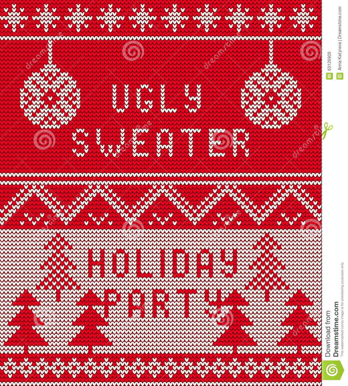 Christmas Sweater Background.Ugly Sweater Background 1 Stock Vector Illustration Of