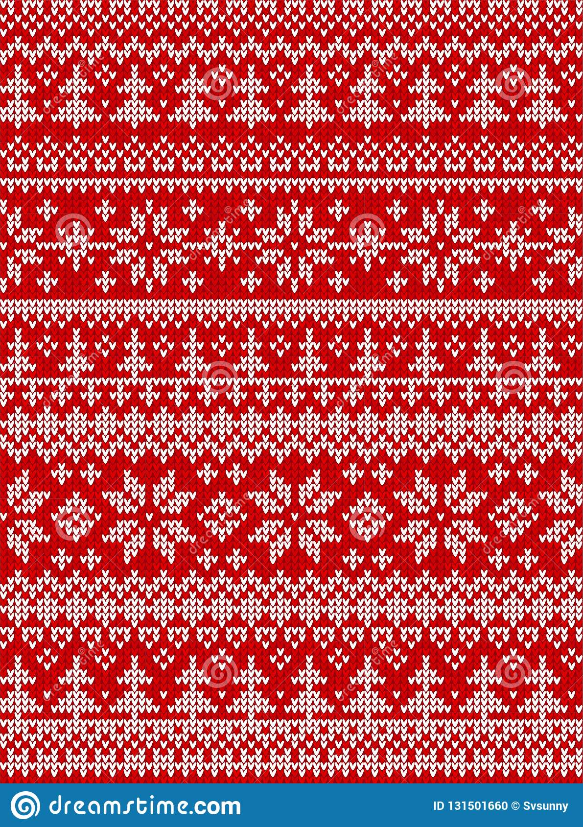 Ugly Sweater Merry Christmas Happy New Year Vector Illustration Knitted Background Seamless Pattern Folk Style Scandinavian Stock Vector Illustration Of Family Knit 131501660