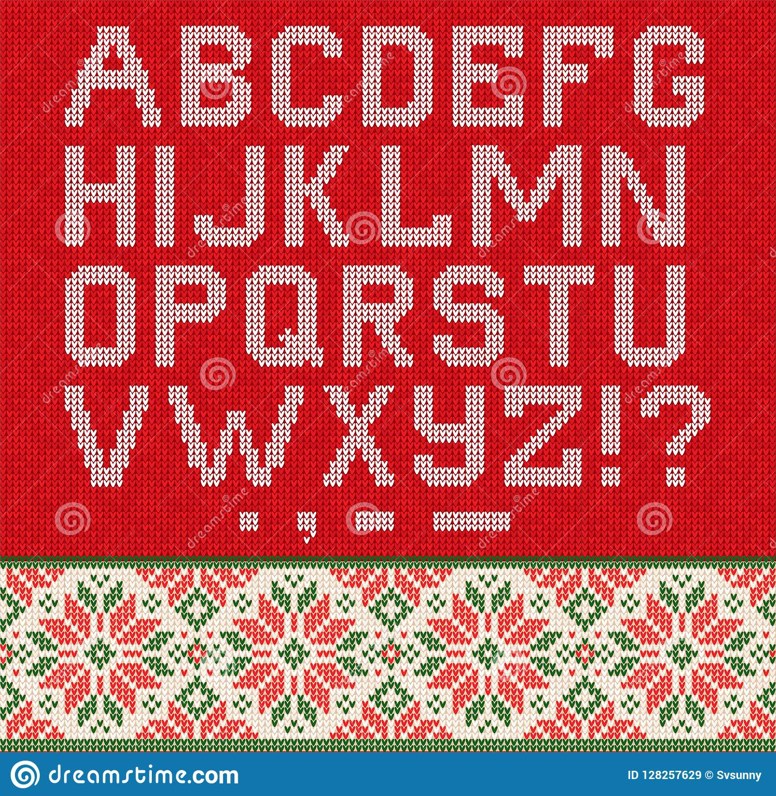 Ugly Sweater Season Winter Sale Poster Knitted Background