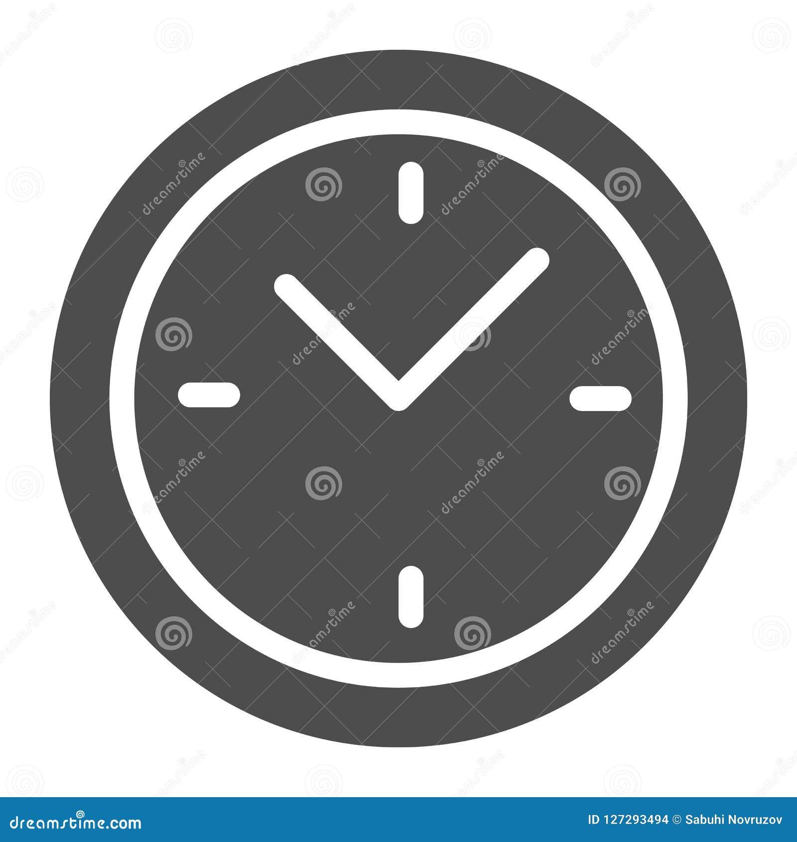 Uhr-Körper-Ikone Zeitvektorillustration lokalisiert auf Weiß Skala Glyph-Artdesign, bestimmt für Netz und APP ENV 10