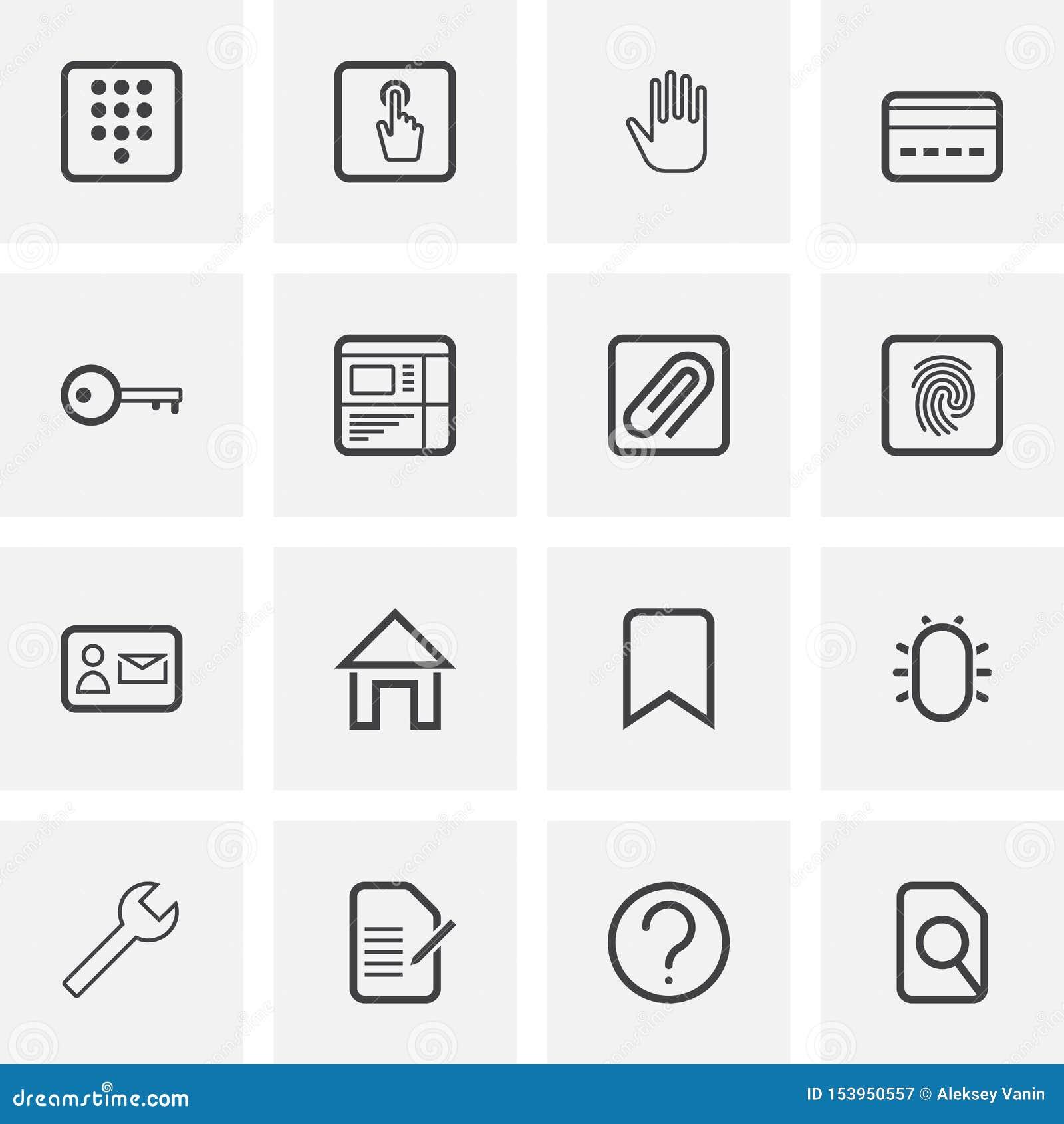 UI and UX, universal line icons set