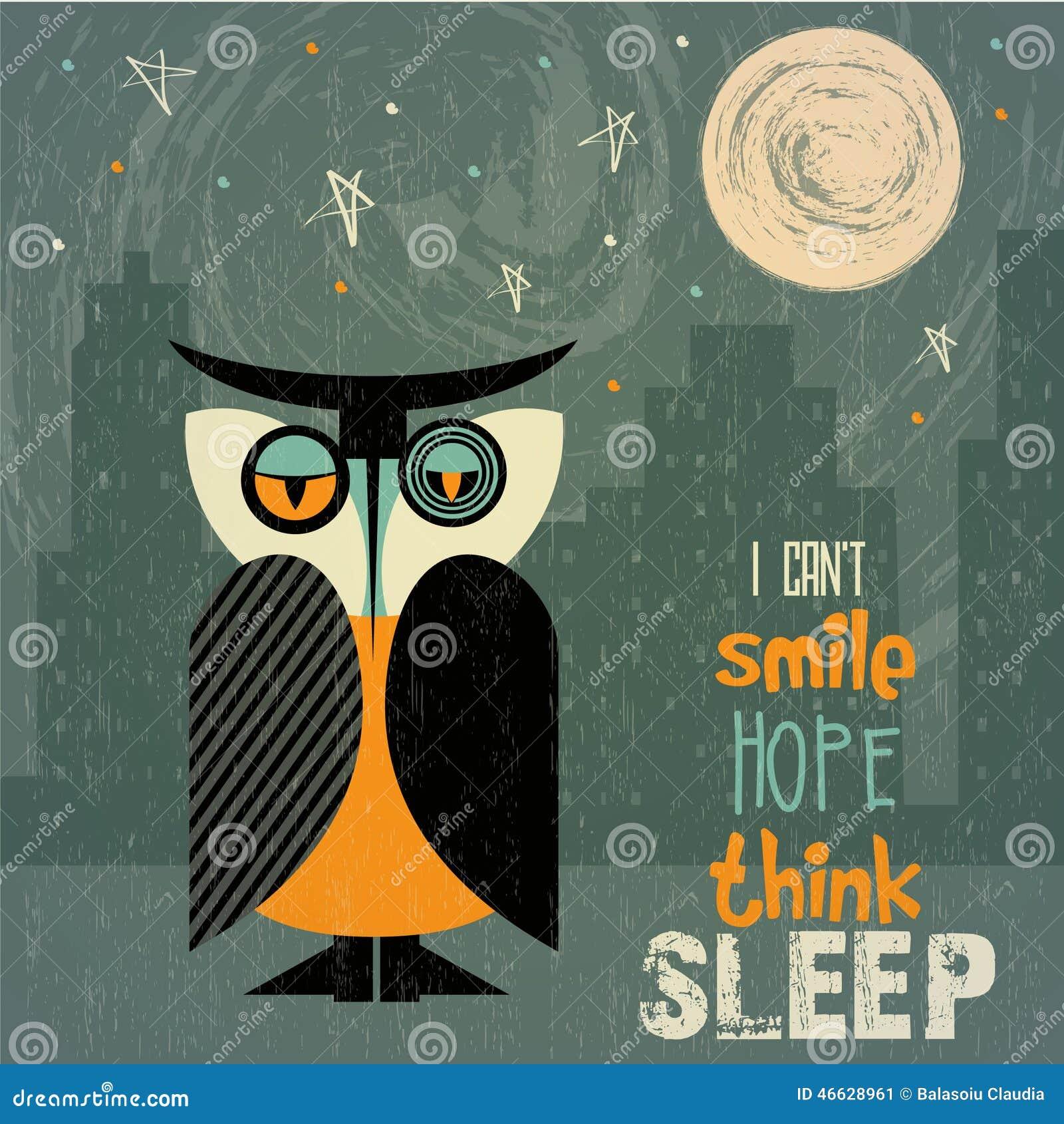 Uil met slapeloosheid