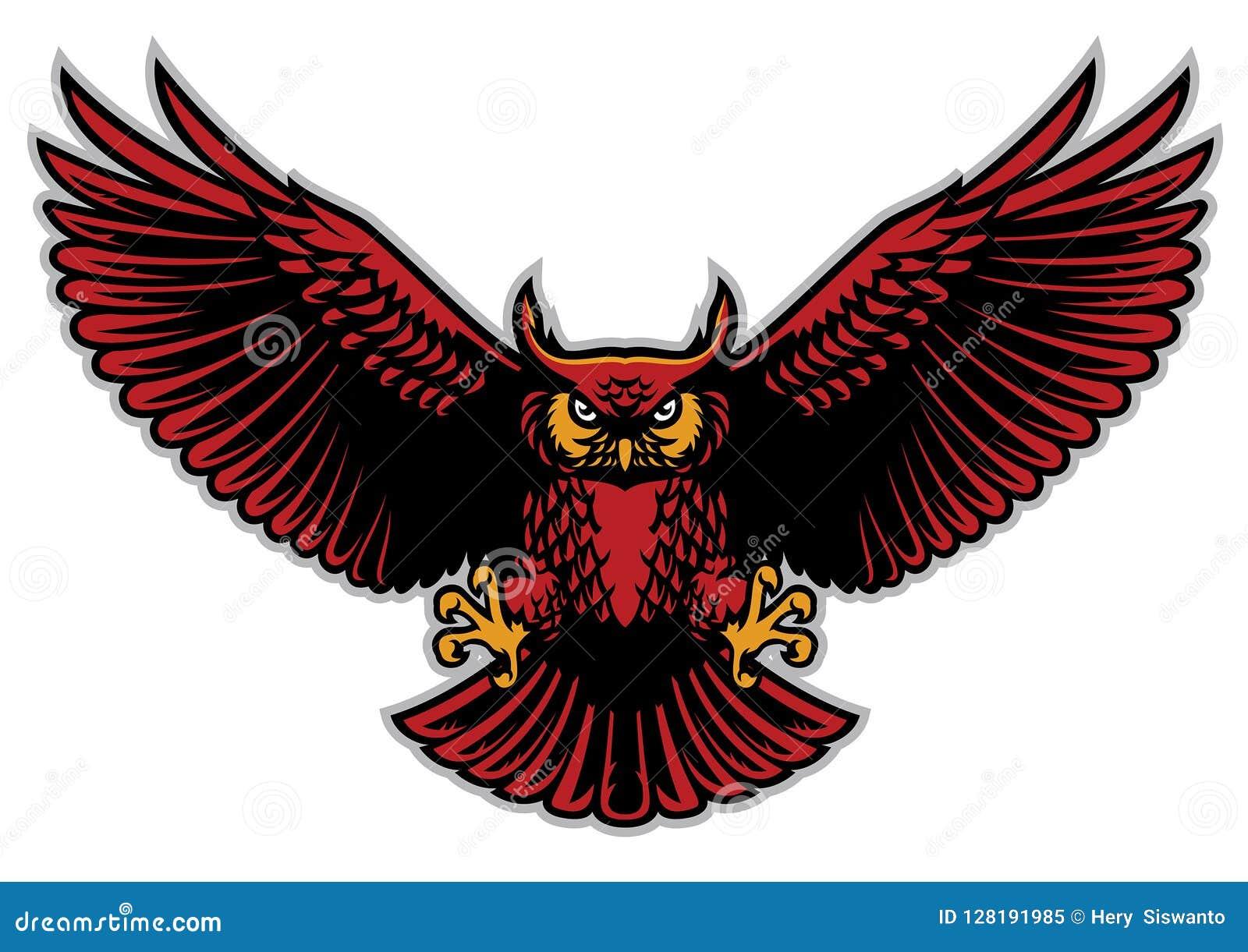 Uil uitgespreide vleugels