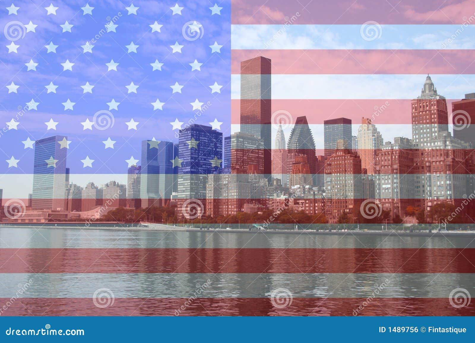 Uit het stadscentrum Manhattan horizon