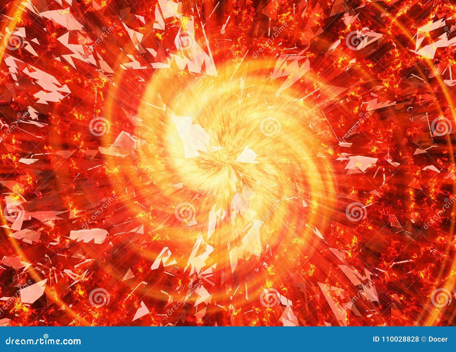 Uitbarstingsflits van gebroken sterachtergronden