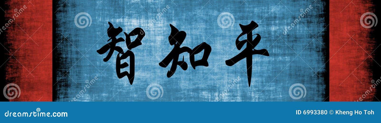 Uitdrukking van de Vrede van de Kennis van de wijsheid de Chinese Motieven