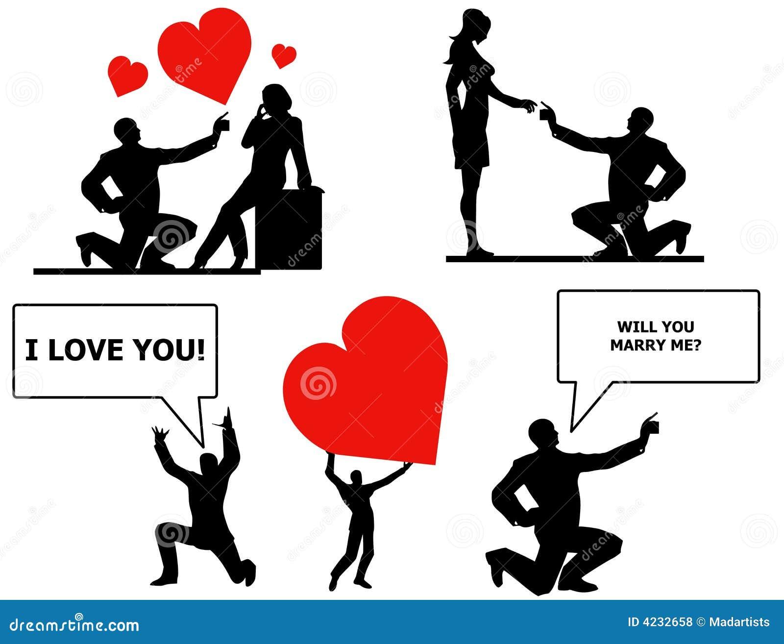 Citaten Love Me : Uitdrukkingen van liefde en huwelijk stock illustratie