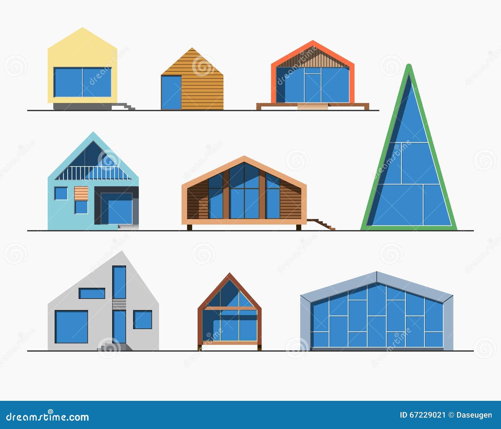 Uiterst kleine huizen lineaire 1 kleur stock foto afbeelding 67229021 - Keuken ontwerp lineaire ...
