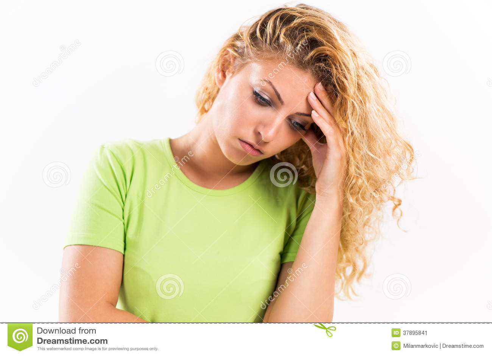 Uitgeput meisje