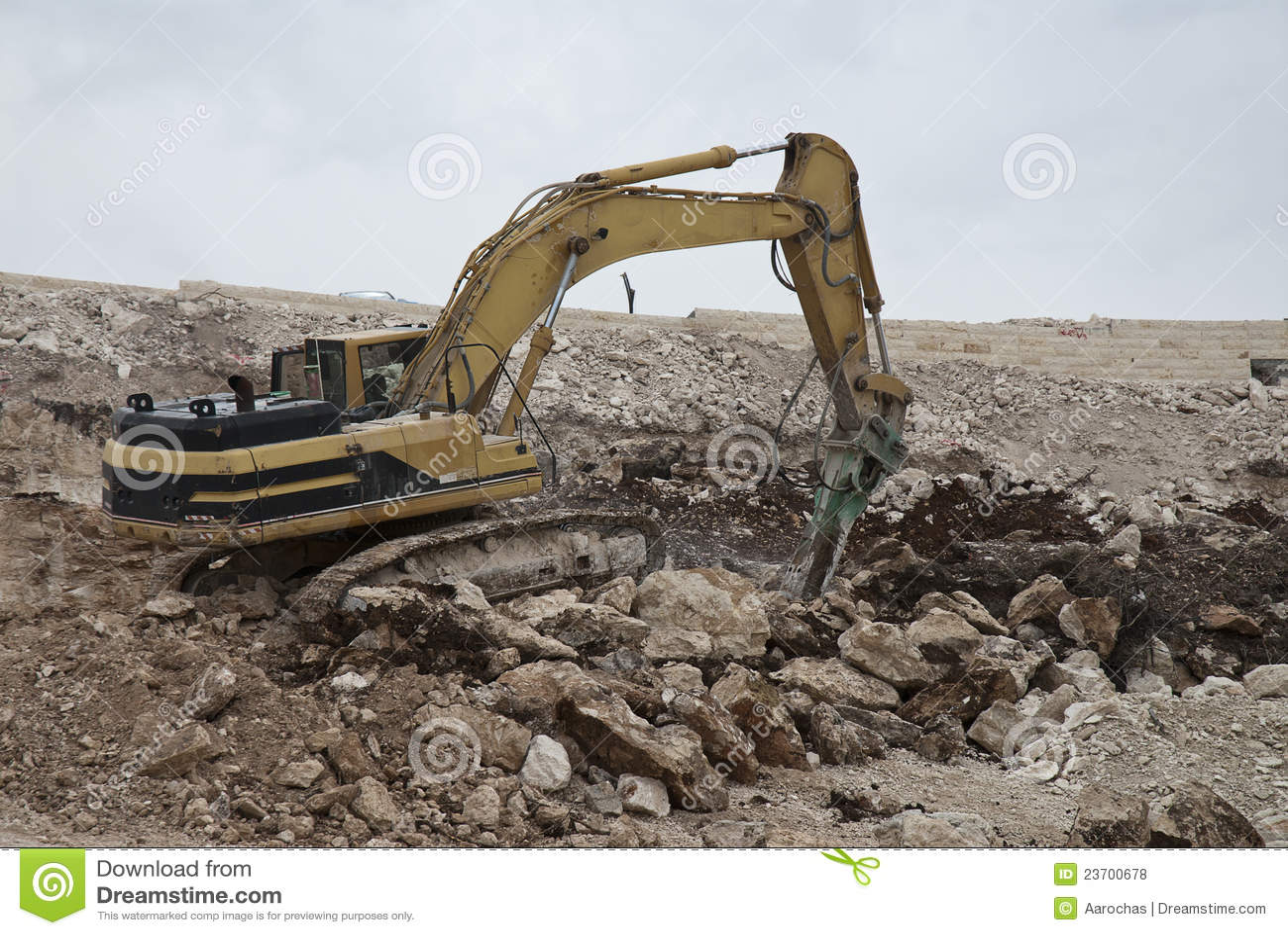 Uitgraving in steen