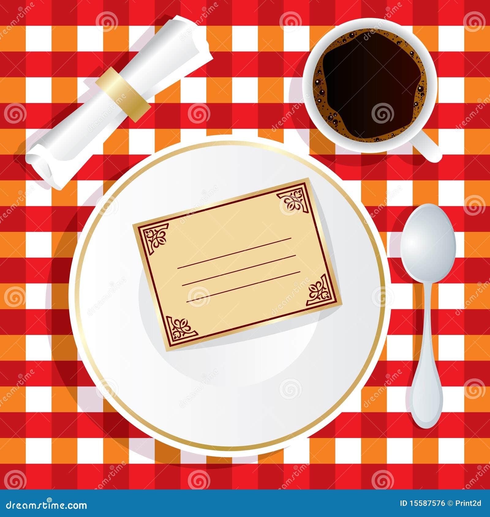 Uitnodiging Voor Lunch Royalty-vrije Stock Afbeelding ...