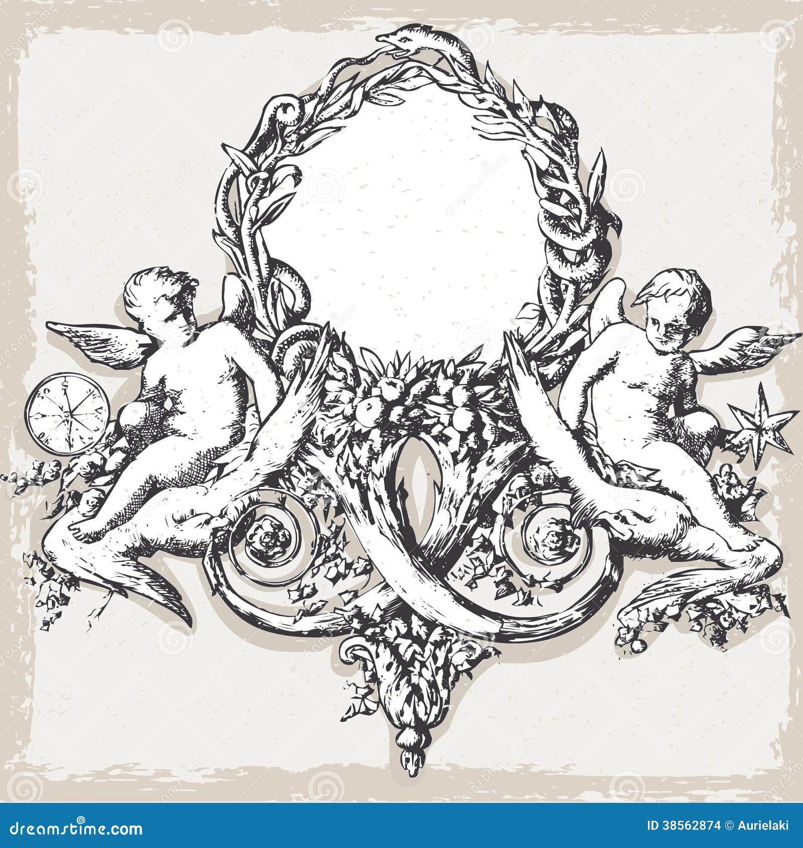 Uitstekend Bloemenkader met Engelen