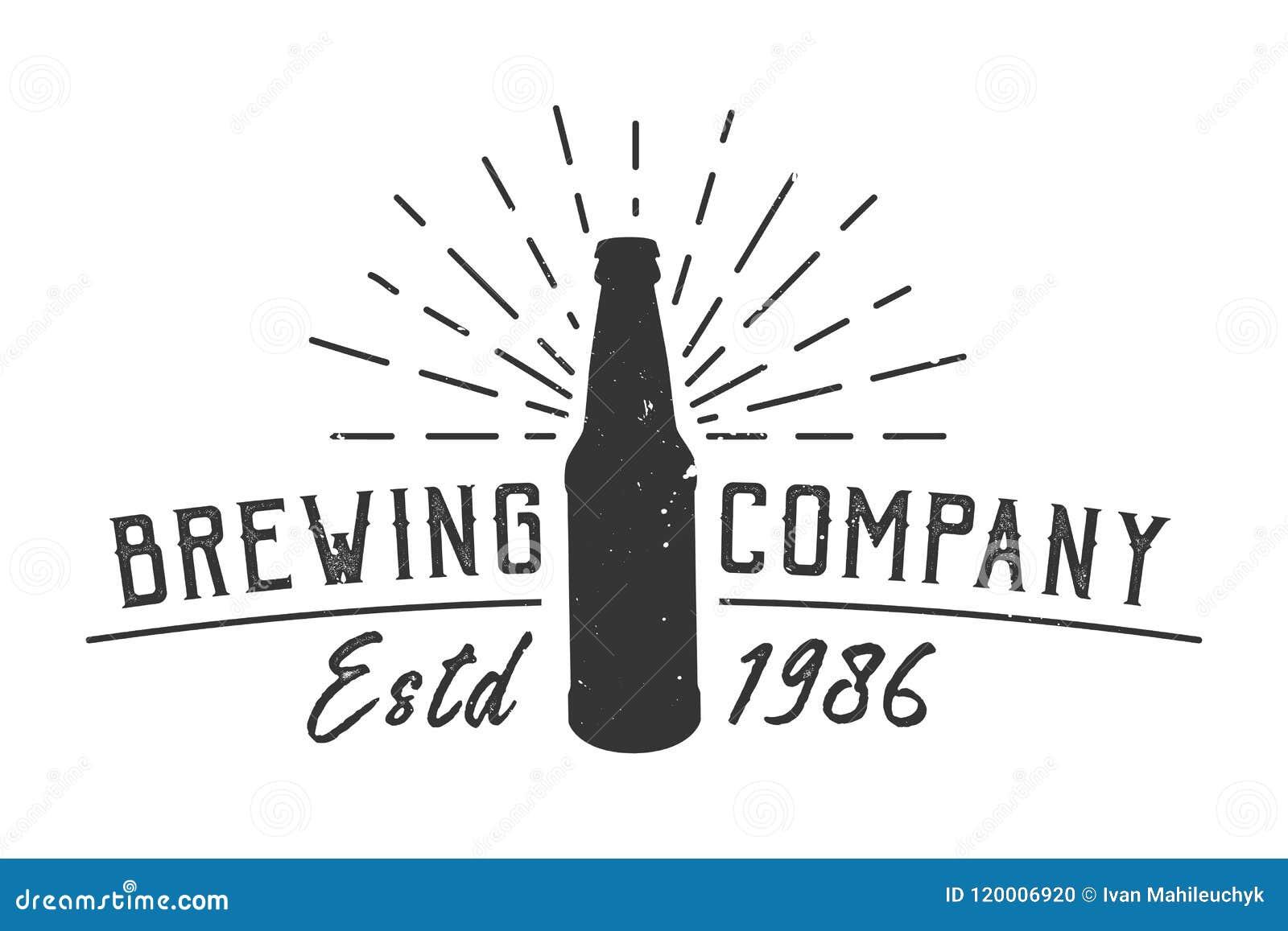 Uitstekend brouwend bedrijf logotype concept