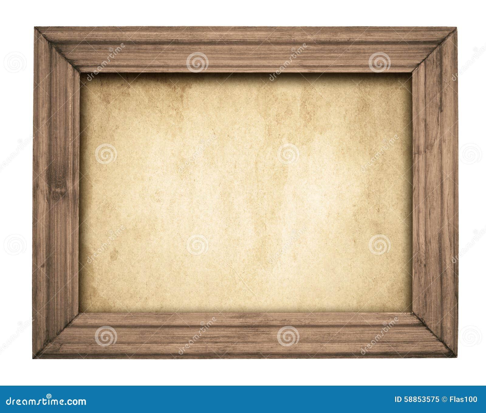 Uitstekend houten kader op oud document