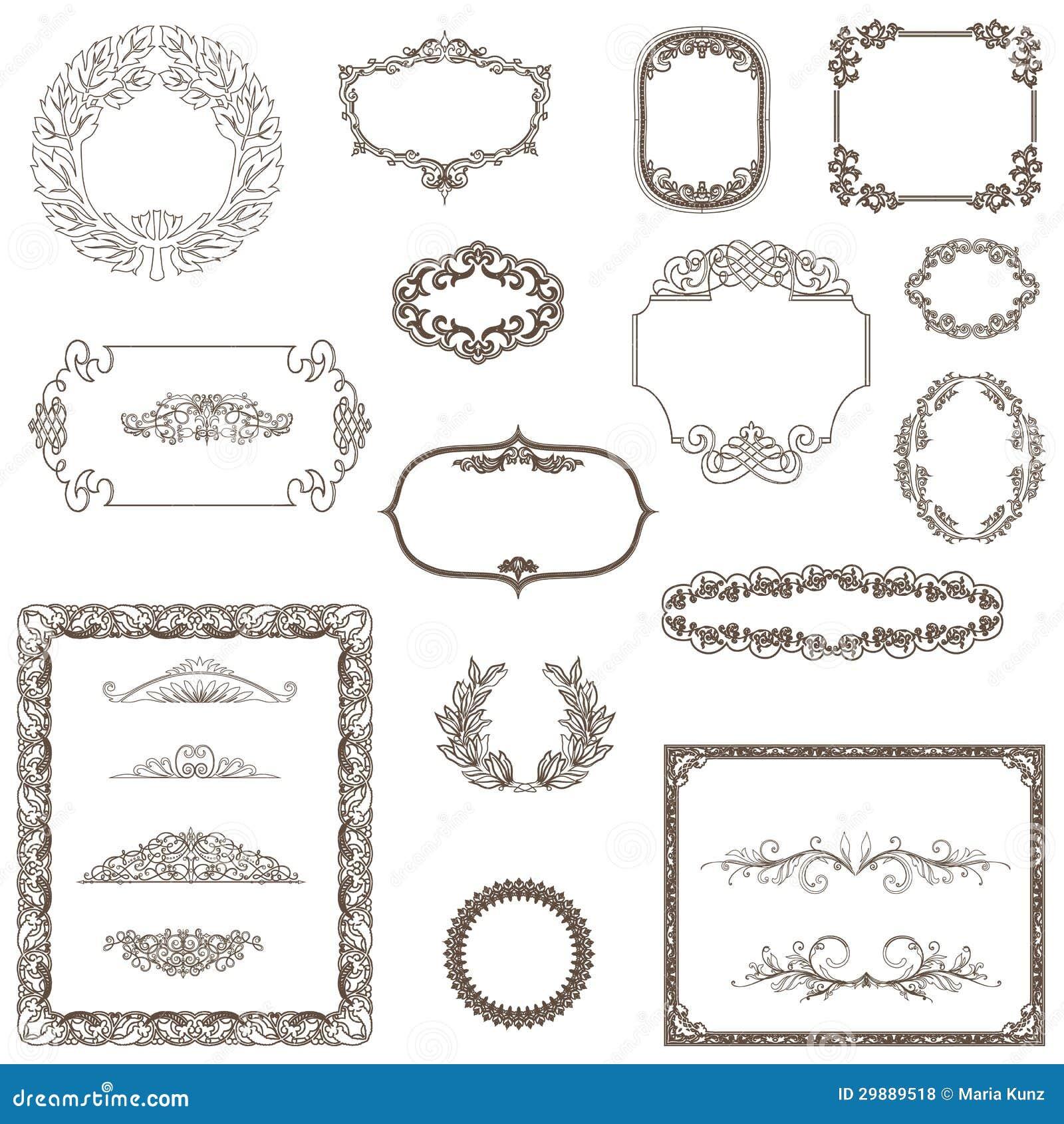 Uitstekend kader ornament en element voor decoratie en ontwerp stock illustratie afbeelding - Decoratie ontwerp kantoor ontwerp ...