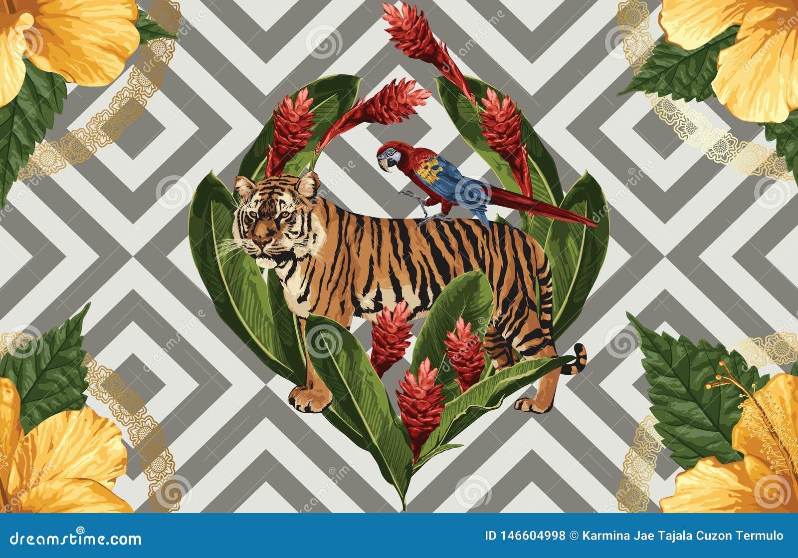Uitstekend Mooi en in Naadloos Patroonontwerp in super hoge resolutie De Textuur van de patroondecoratie Uitstekend stijlontwerp