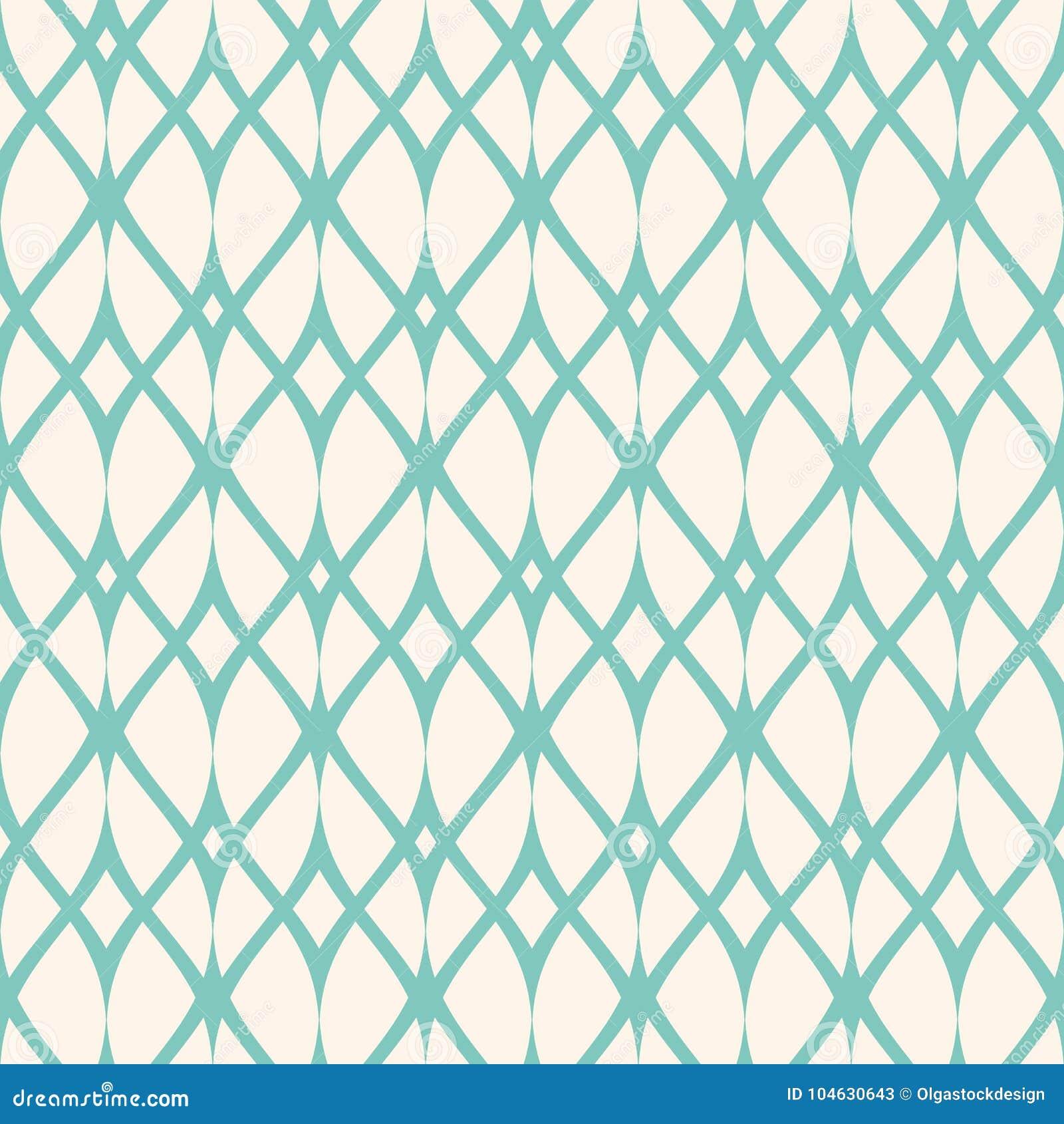 Download Uitstekend Naadloos Patroon, Dunne Golvende Lijnen, Netwerk Groene Aqua Vector Illustratie - Illustratie bestaande uit geometrisch, herhaal: 104630643