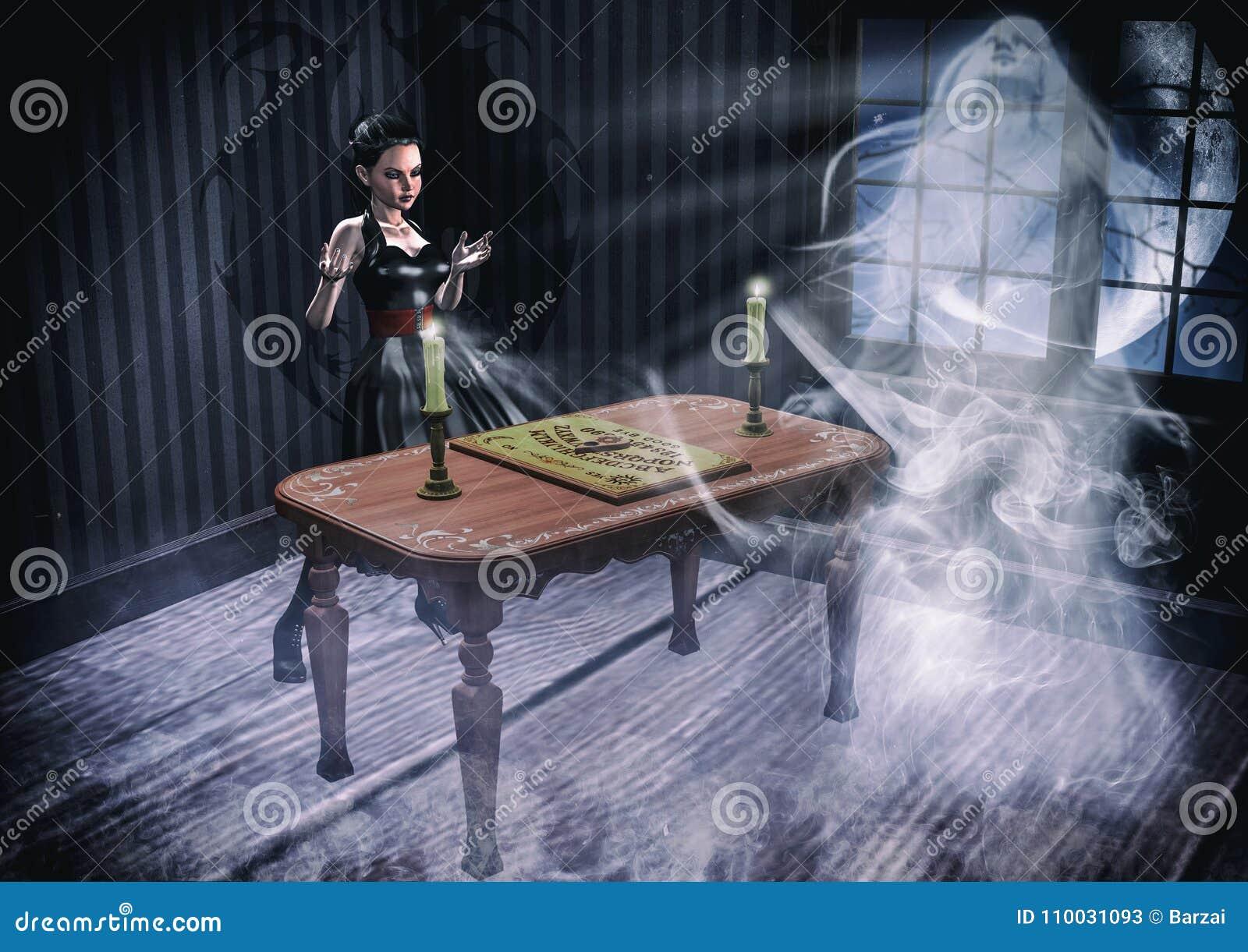 Uitstekend portret die een spook bijeenroepen