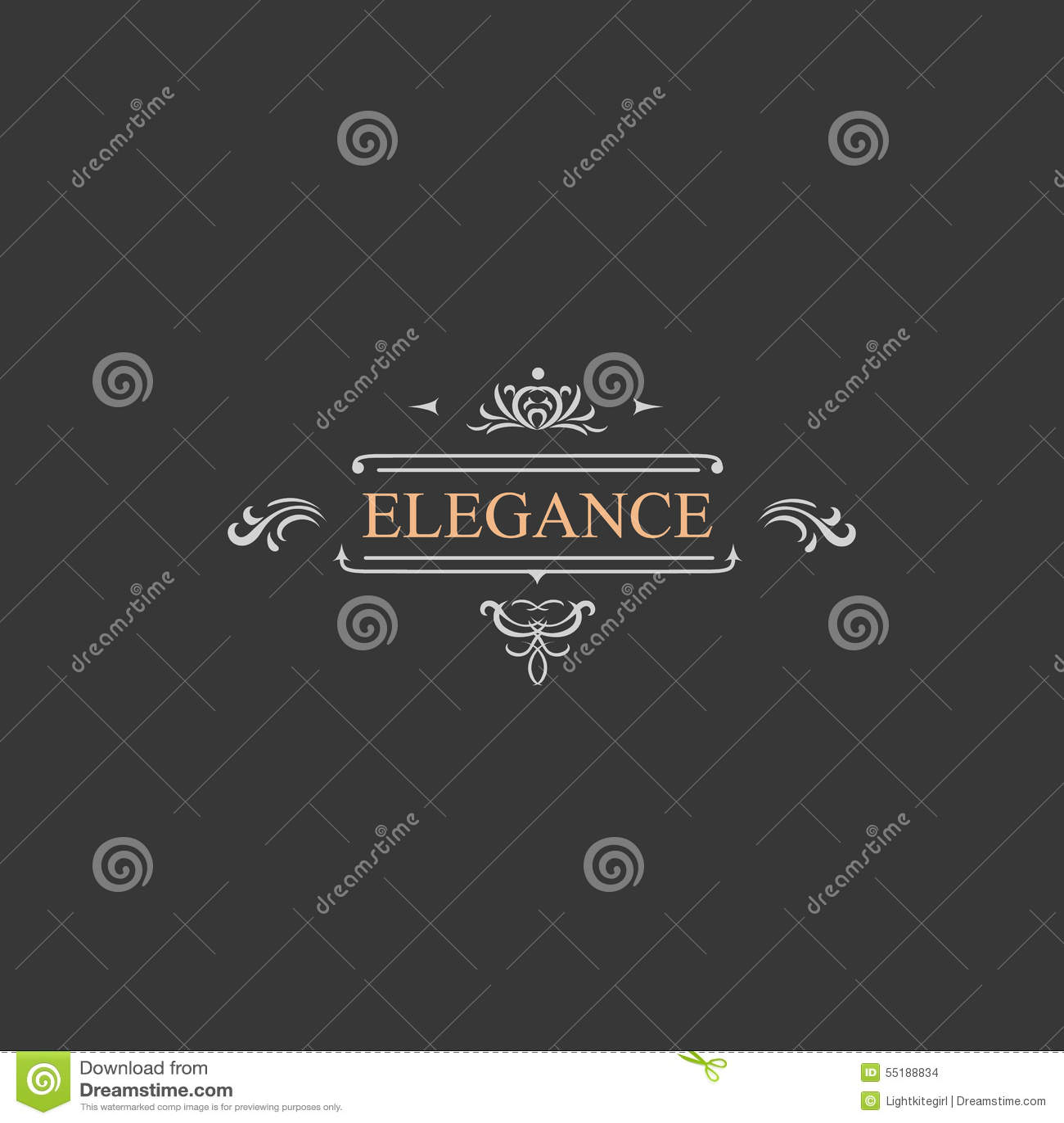 Uitstekend retro etiket en luxeembleem, restaurant