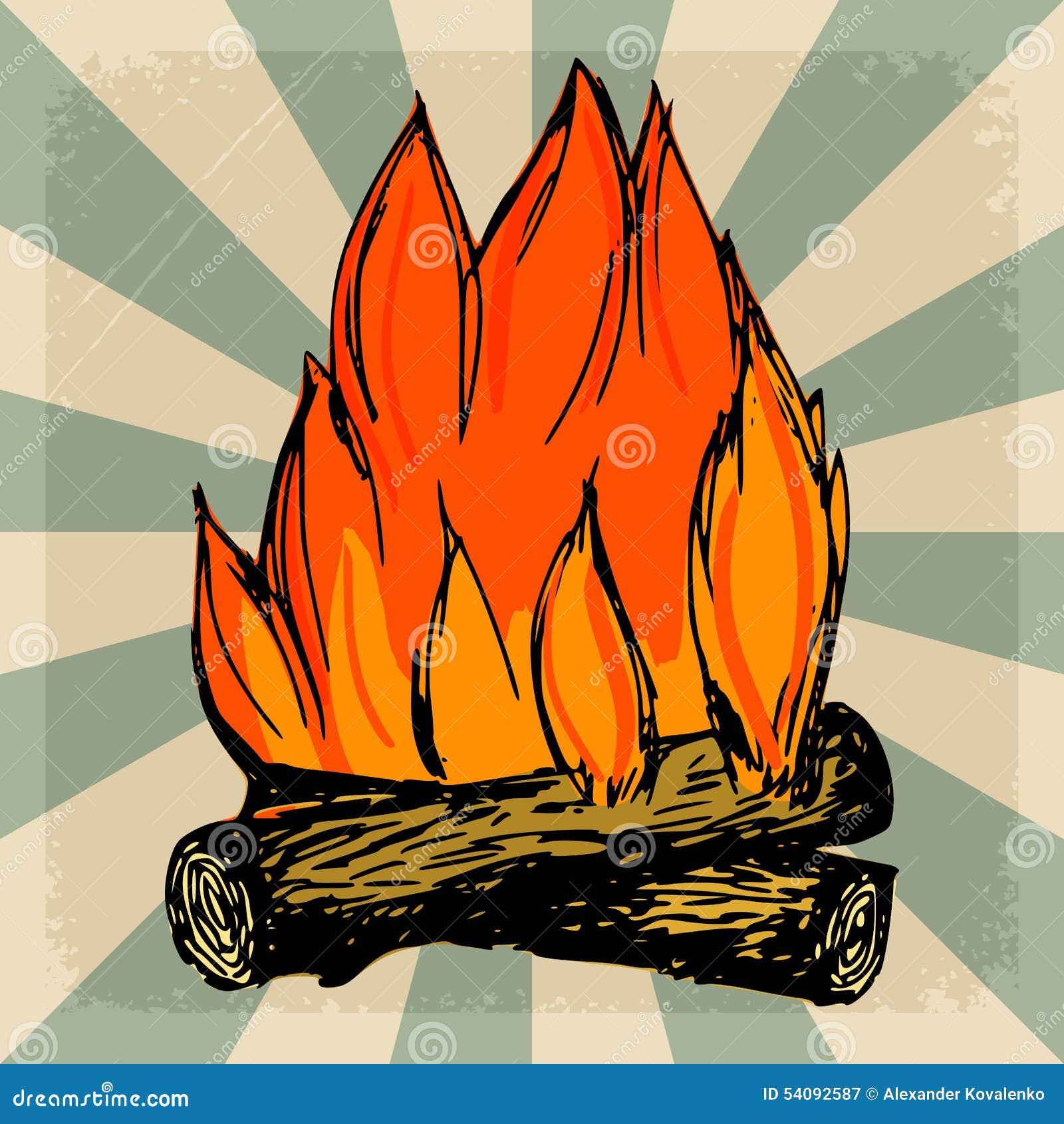 Uitstekende achtergrond met vlam