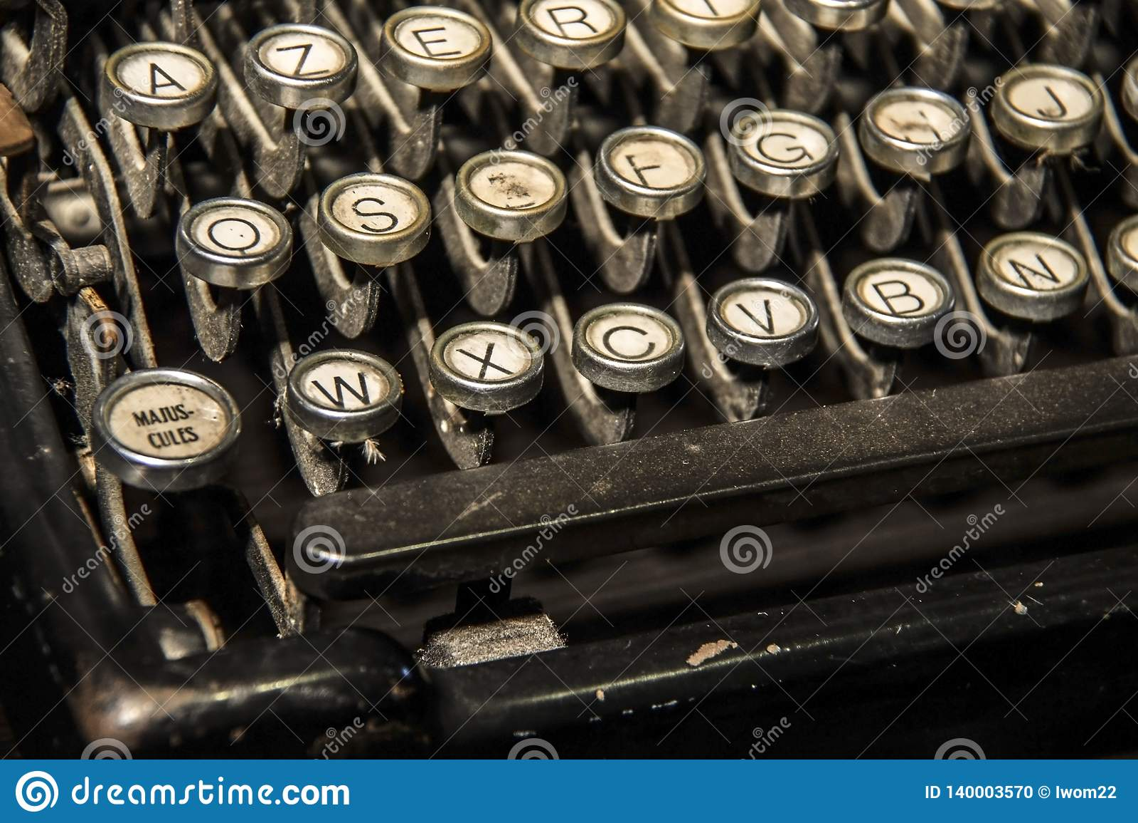 Uitstekende achtergrond Oude schrijfmachinesleutels