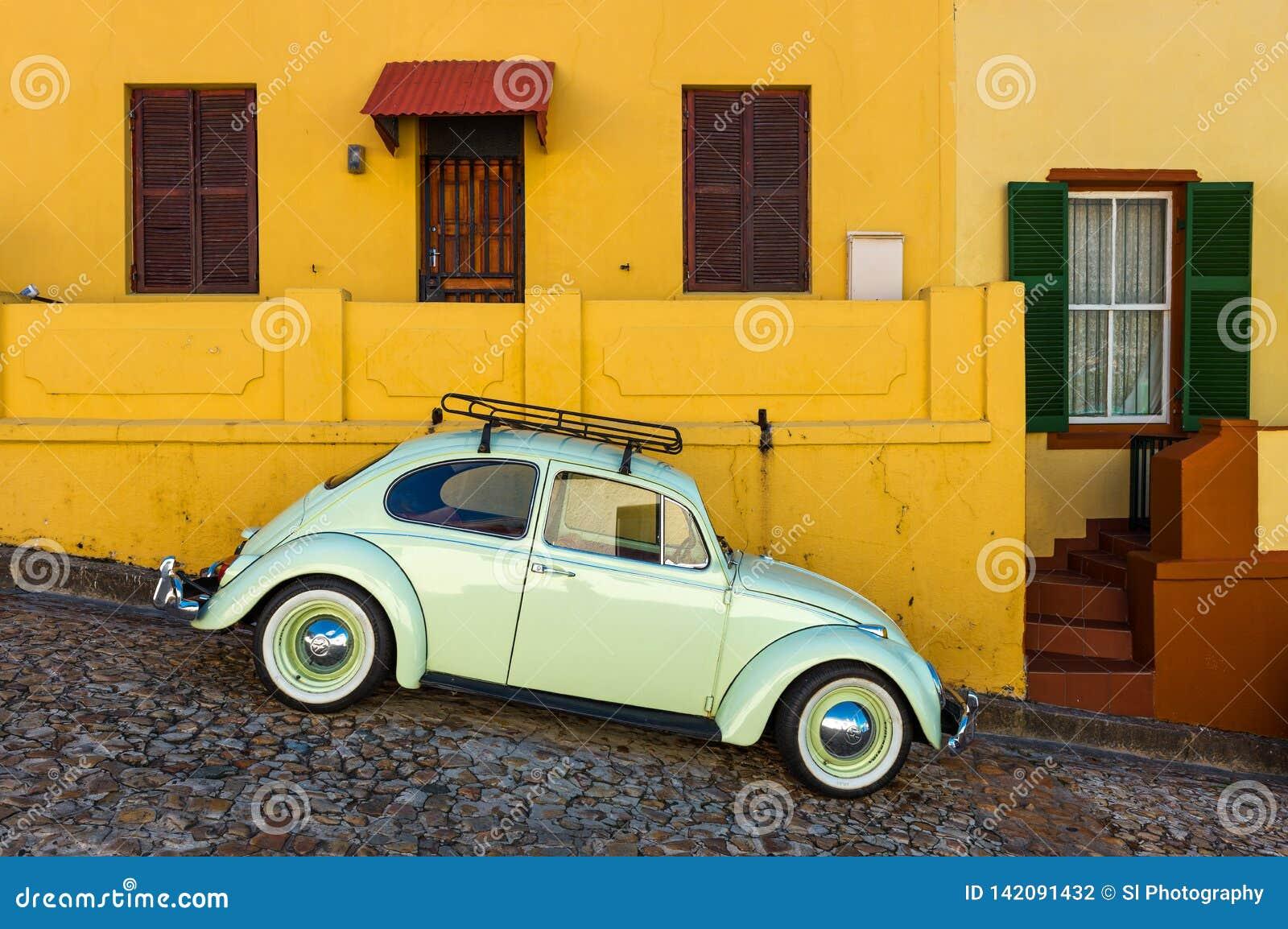 Uitstekende Auto in het district van BO Kaap, Cape Town, Zuid-Afrika