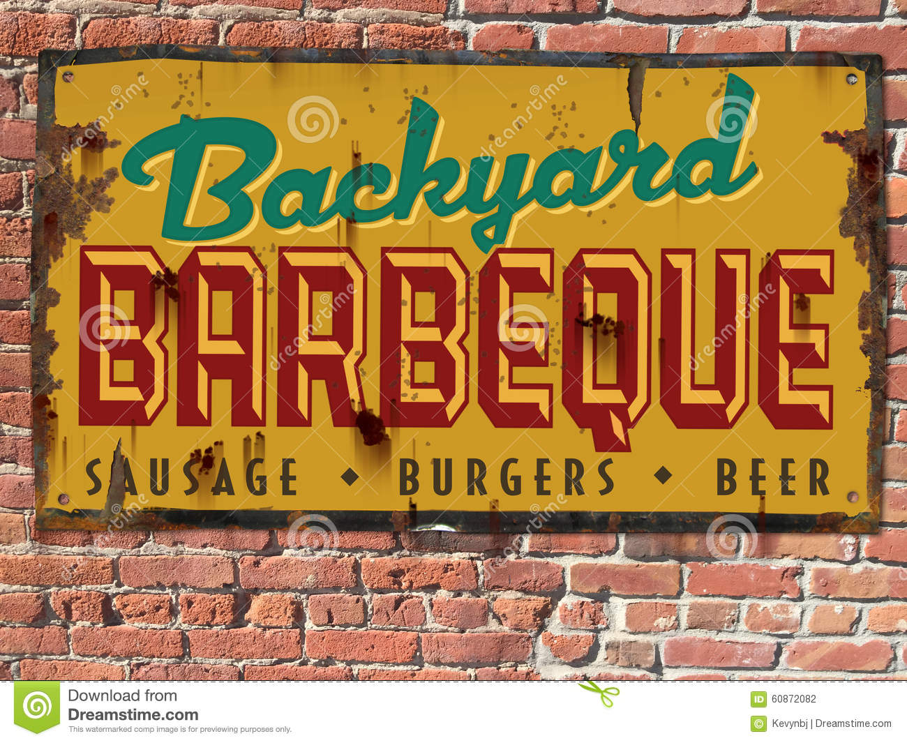 Uitstekende Barbecuebbq Tin Sign