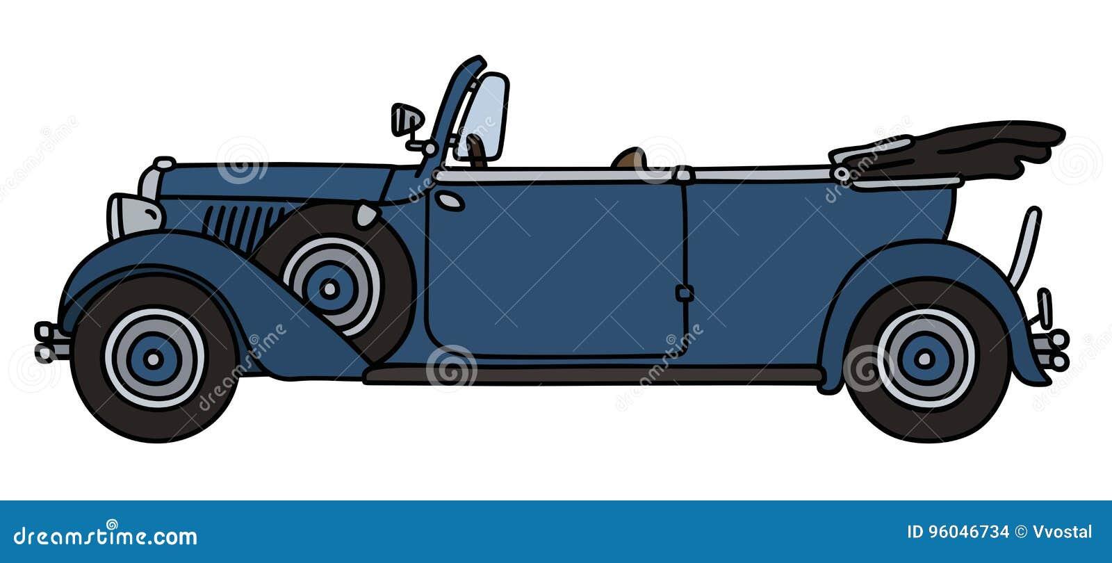 Uitstekende blauwe cabriolet