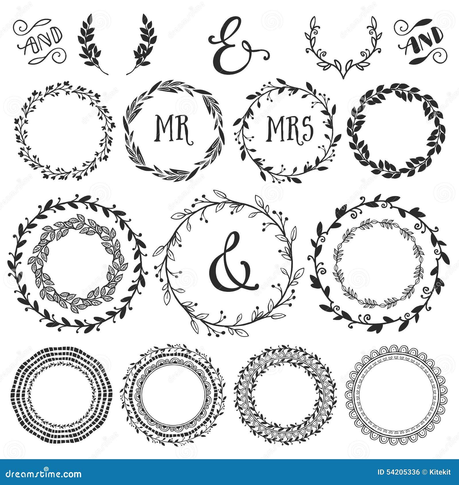 Uitstekende decoratieve kronen en laurels met het van letters voorzien