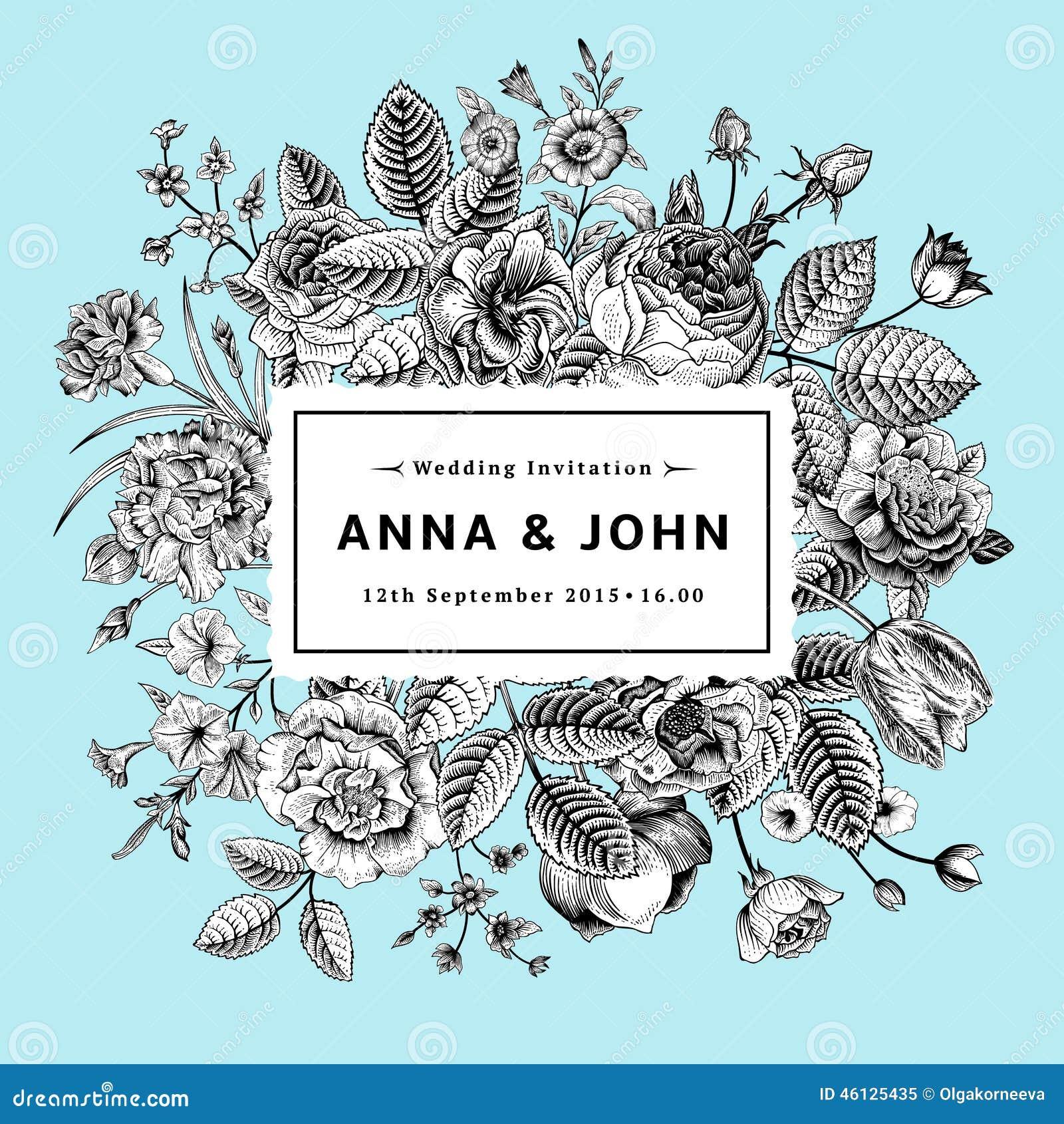 Uitstekende elegante huwelijksuitnodiging