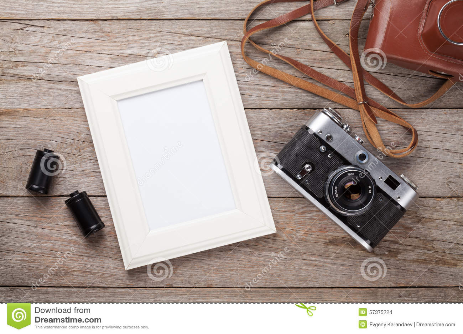 Uitstekende filmcamera en leeg fotokader