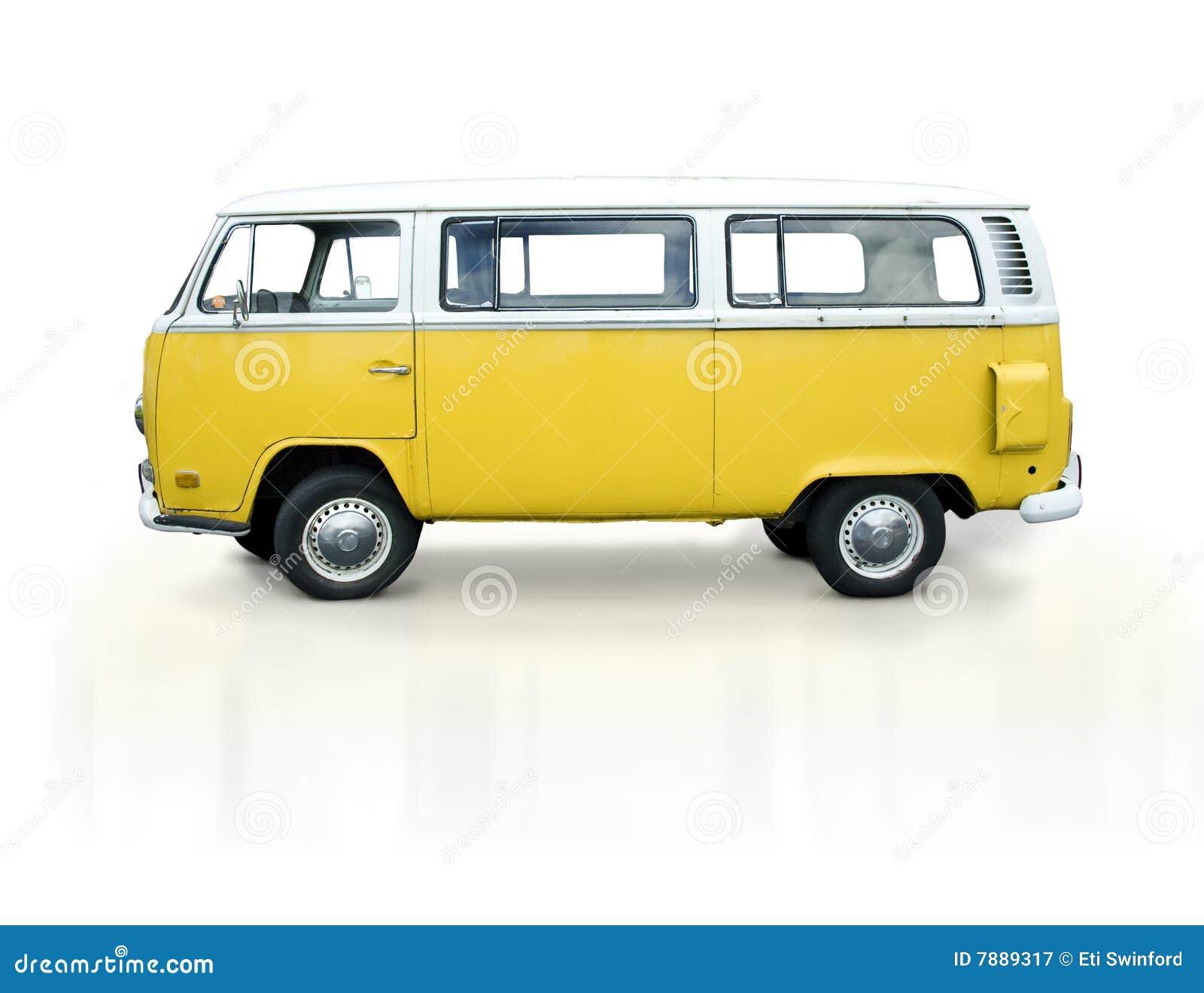 Uitstekende gele bestelwagen
