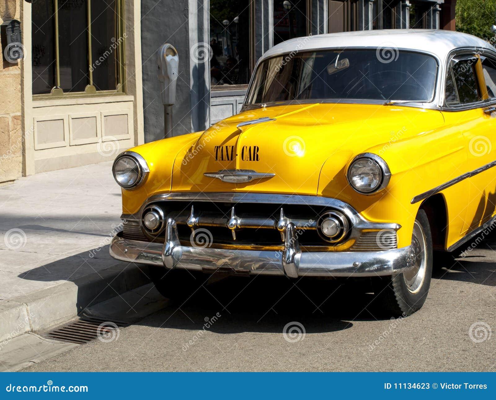 Uitstekende Gele Cabine