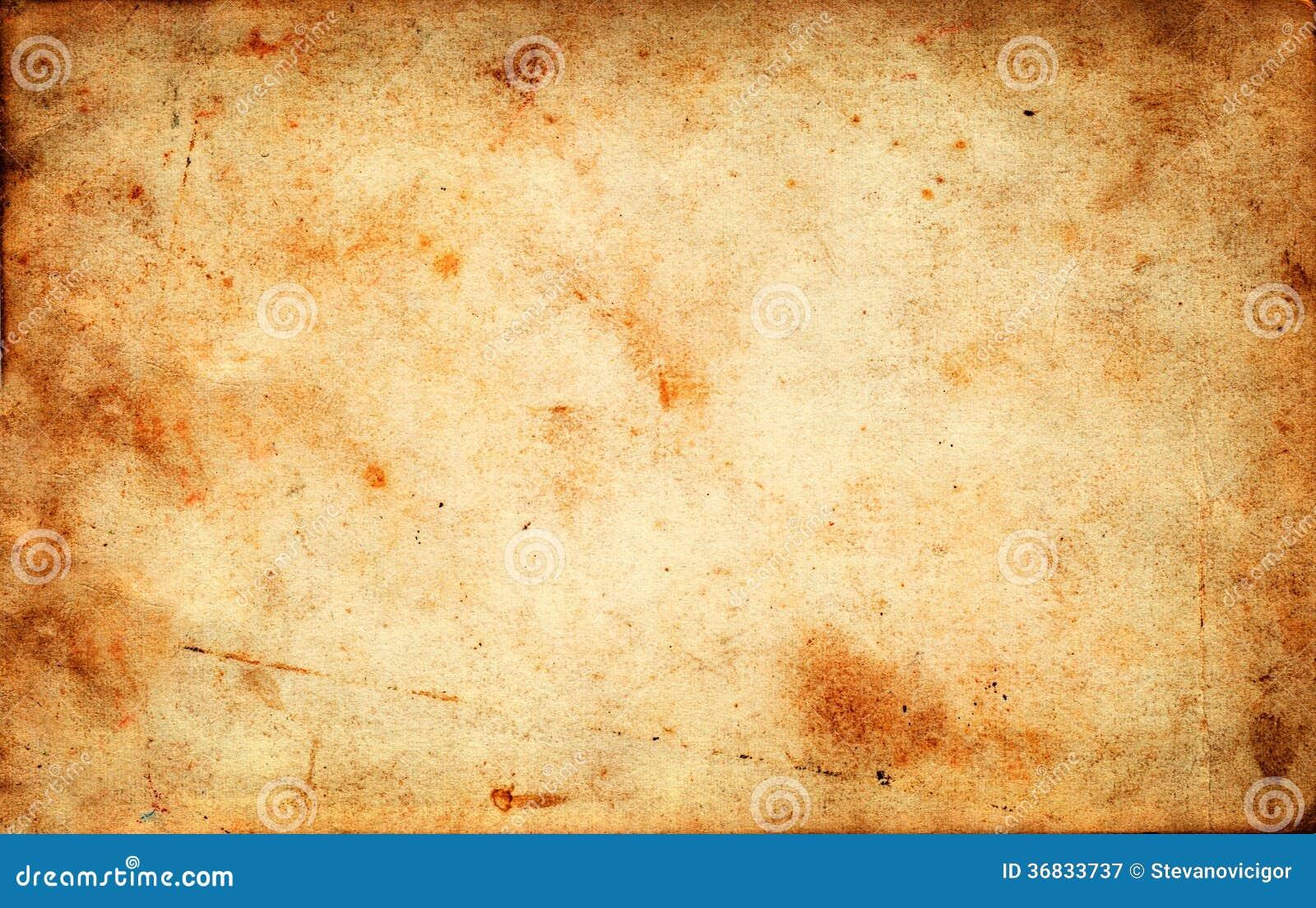 Uitstekende grunge oude document textuur als achtergrond