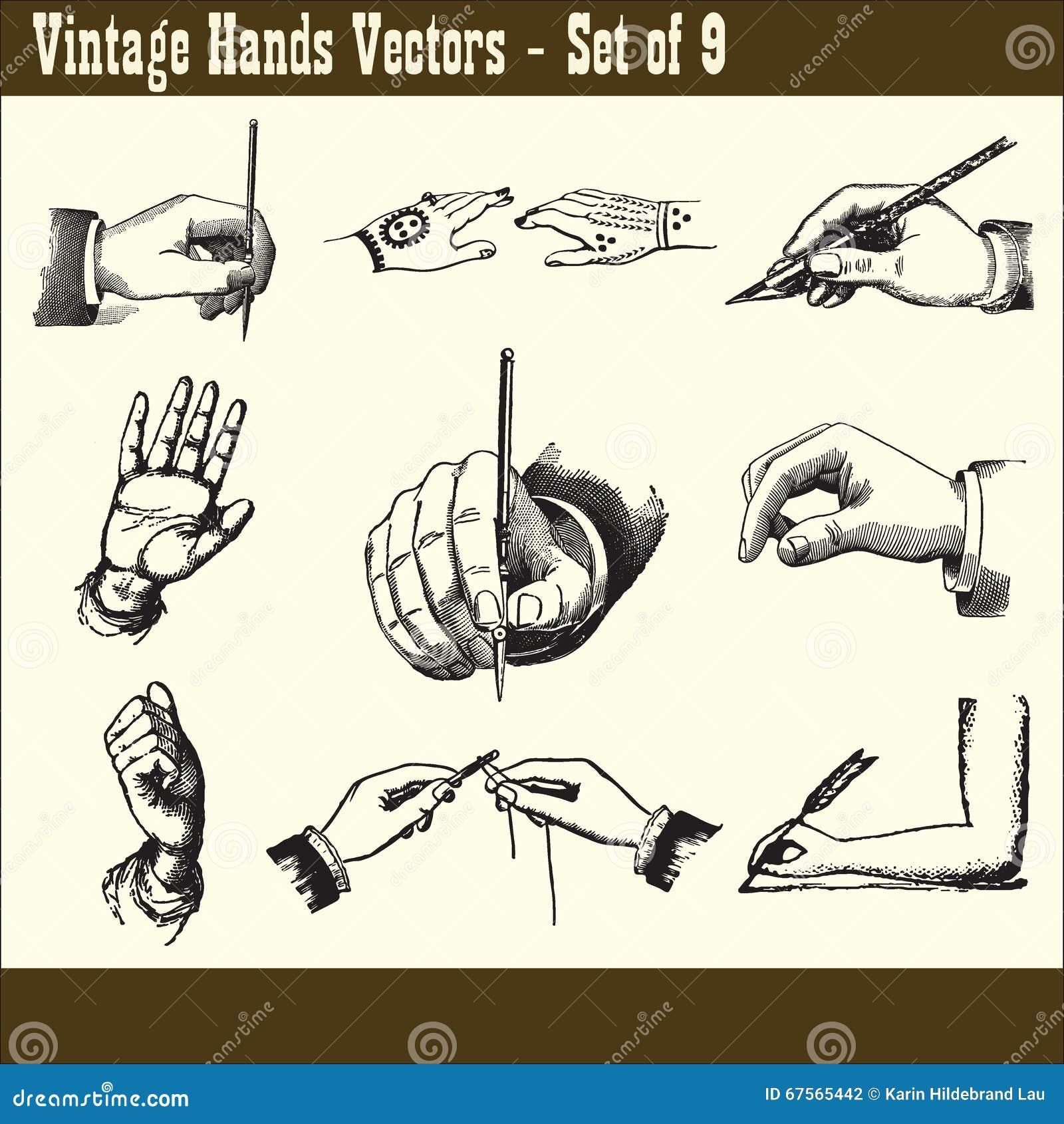Uitstekende Handenvectoren