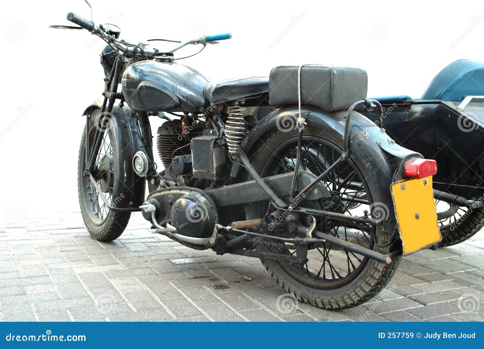 Uitstekende motorfiets