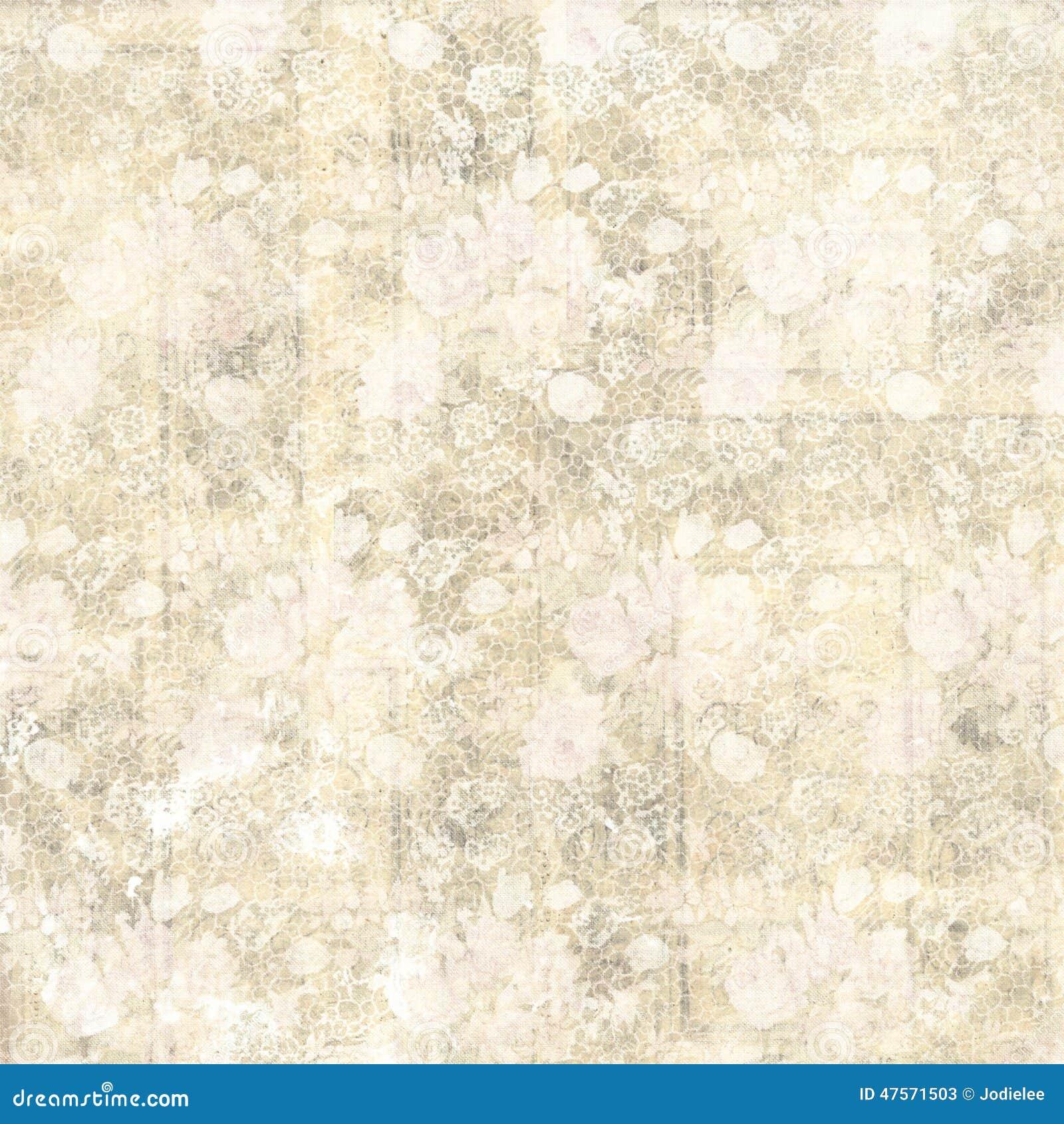 Uitstekende pastelkleur grungy bloemen en houten korrelontwerp als achtergrond