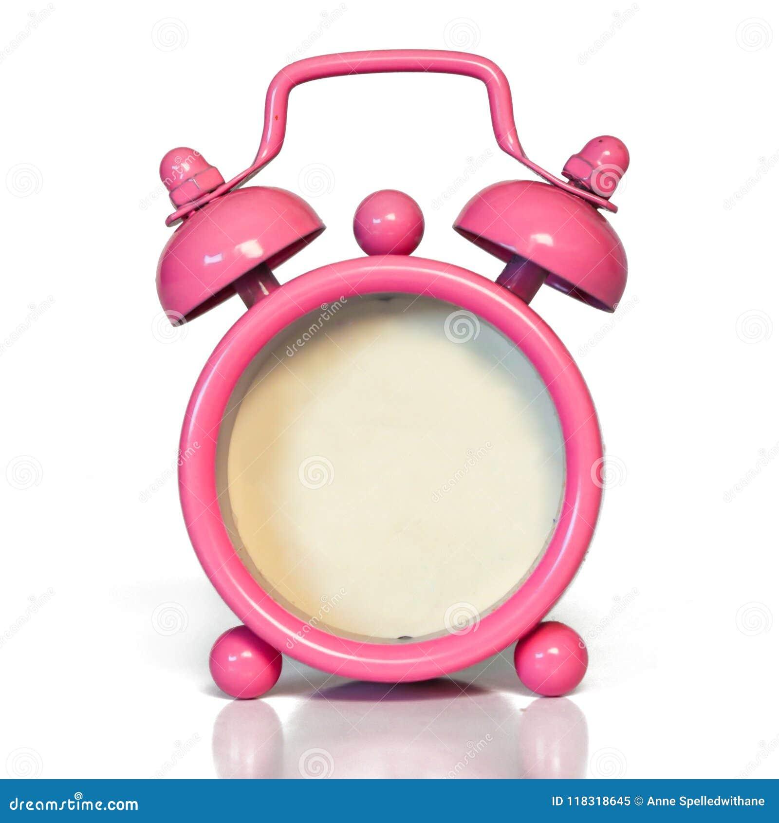 Uitstekende Roze Wekker - Spatie zonder Aantal Geen Gezicht