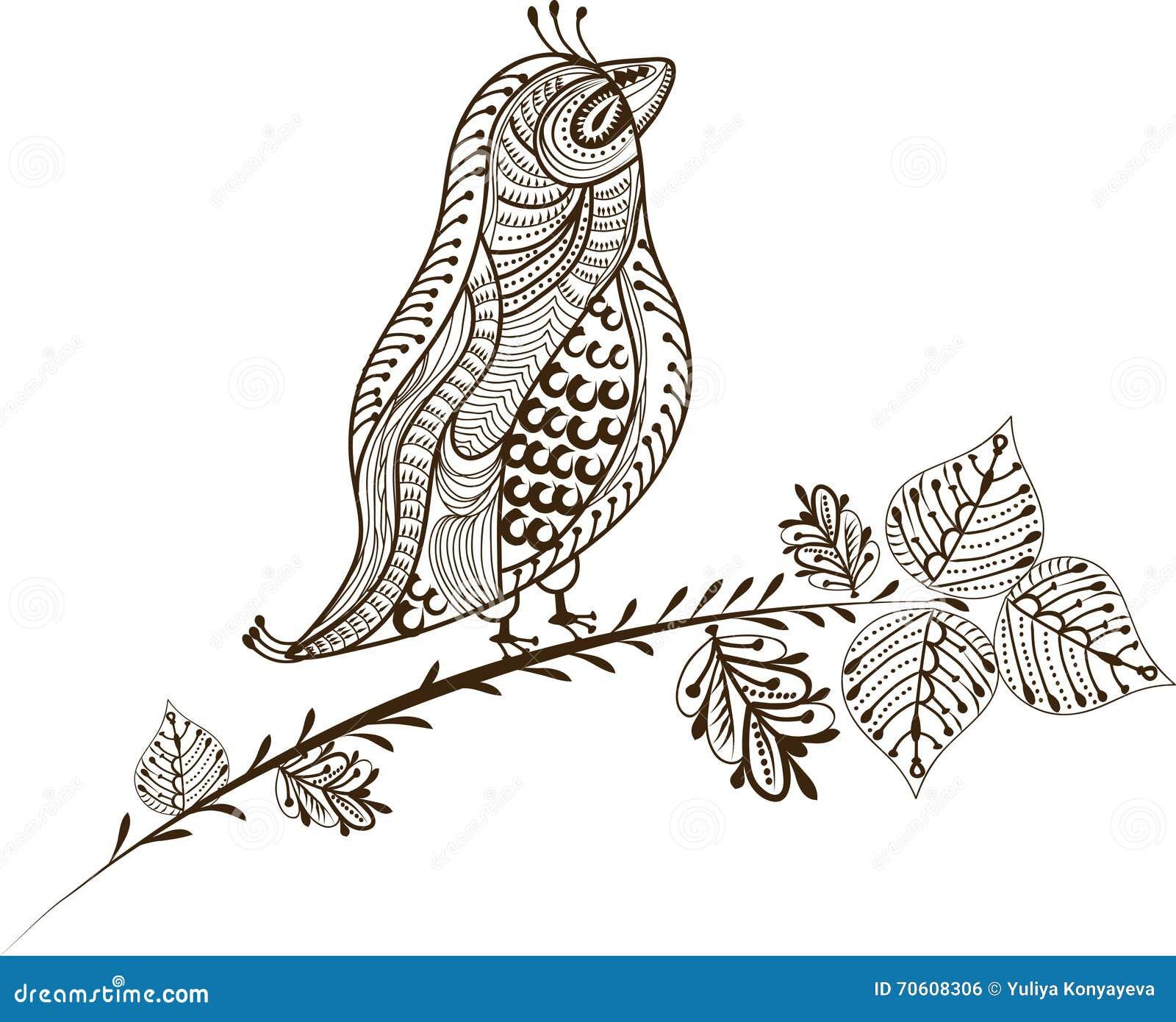 Uitstekende vogel