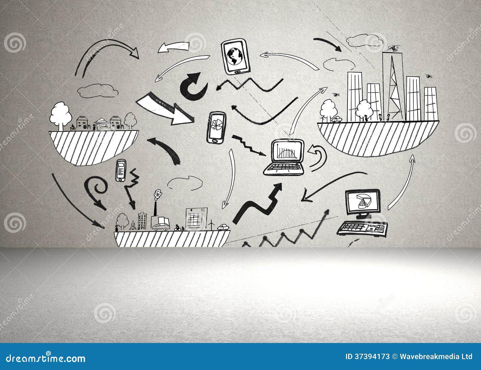 ... voorraadbeelden van ` Uitwisseling van ideeën op de muur