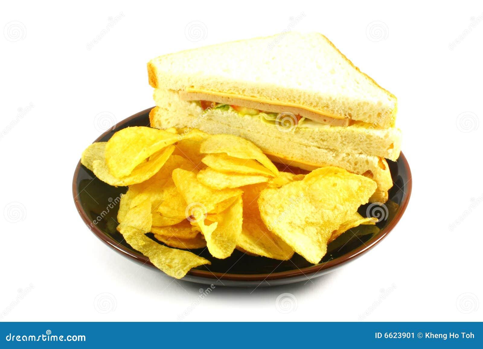 Układ scalony combo posiłku kanapka